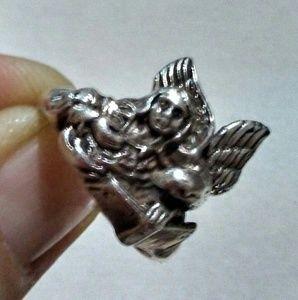Patriotic silver ring